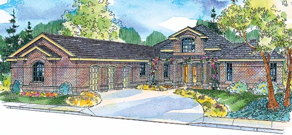 European Ranch Traditional House Plan 69774 Elevation