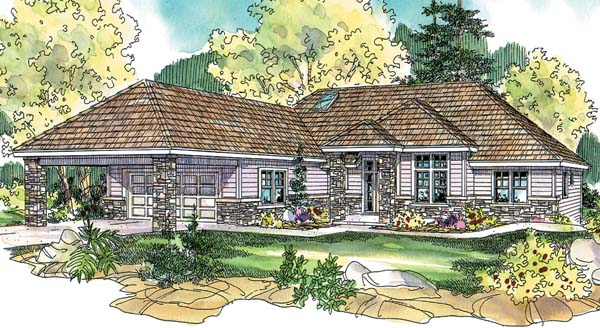 Contemporary European Ranch House Plan 69775 Elevation