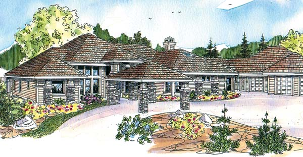 Craftsman European Florida Ranch House Plan 69776 Elevation