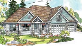 Contemporary Country Craftsman Traditional House Plan 69779 Elevation