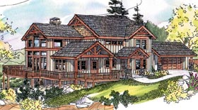 Bungalow , Craftsman House Plan 69784 with 3 Beds, 3 Baths, 2 Car Garage Elevation