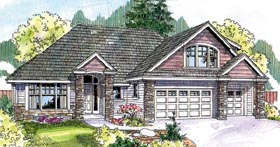 Country , Contemporary House Plan 69785 with 3 Beds, 3 Baths, 3 Car Garage Elevation