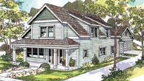 Country , Farmhouse House Plan 69786 with 3 Beds, 3 Baths, 2 Car Garage Elevation
