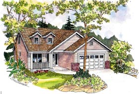 Contemporary Country Farmhouse House Plan 69788 Elevation
