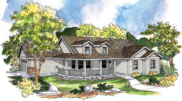 Country Farmhouse Ranch House Plan 69790 Elevation