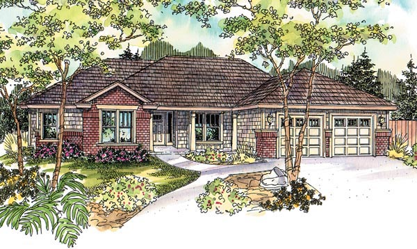 Contemporary Ranch House Plan 69793 Elevation
