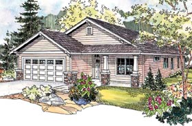 Country Craftsman Ranch House Plan 69794 Elevation
