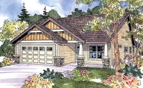 Colonial Contemporary Country Ranch House Plan 69797 Elevation