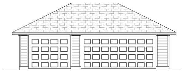 Traditional Garage Plan 69900 Elevation