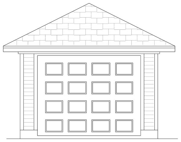 Garage Plan 69902 | Traditional Style Plan, 1 Car Garage Elevation