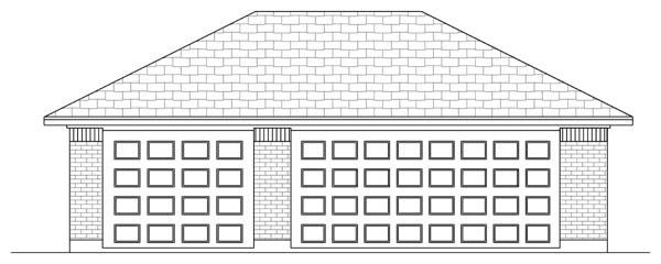 Garage Plan 69905 | Traditional Style Plan, 3 Car Garage Elevation