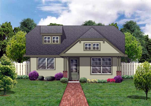 Craftsman House Plan 69907 with 3 Beds, 2 Baths Elevation