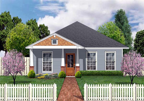 Craftsman House Plan 69908 with 3 Beds, 2 Baths Front Elevation