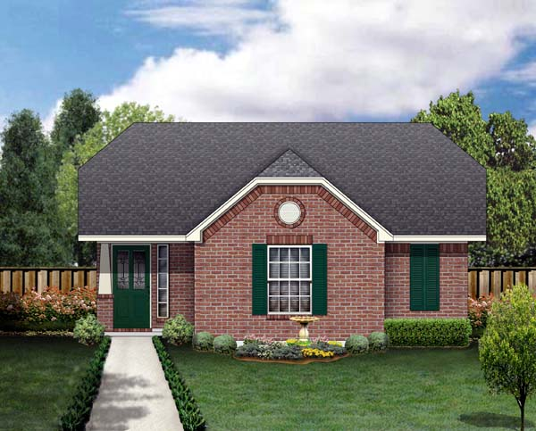 Craftsman Elevation of Plan 69914