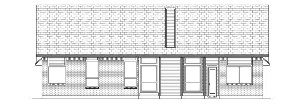 Traditional Rear Elevation of Plan 69916