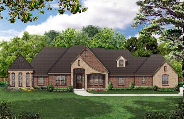 European Traditional House Plan 69919 Elevation