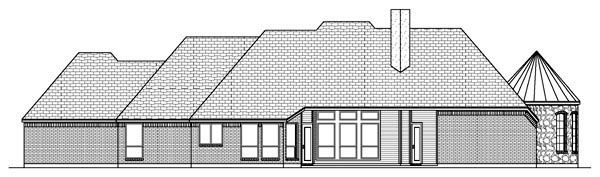 European Traditional House Plan 69919 Rear Elevation