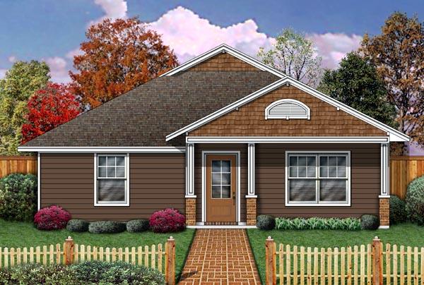 Cottage Craftsman House Plan 69922 Elevation