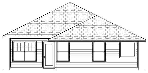 Cottage Craftsman House Plan 69922 Rear Elevation