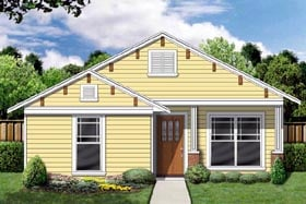Craftsman , Cottage House Plan 69923 with 3 Beds, 2 Baths Elevation