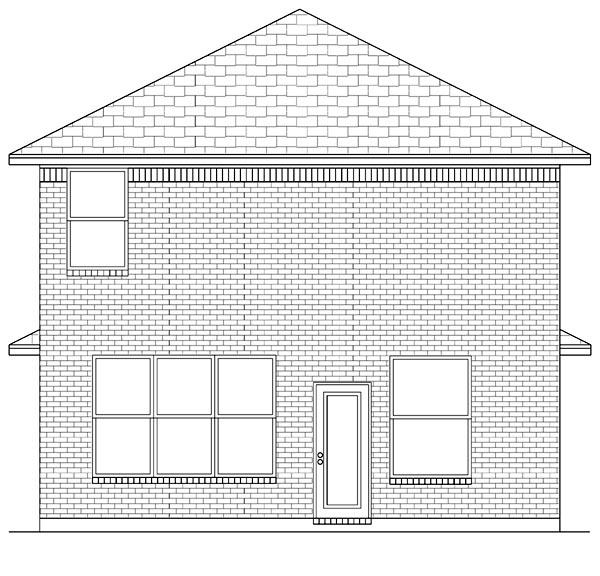 Cottage Craftsman Traditional House Plan 69927 Rear Elevation