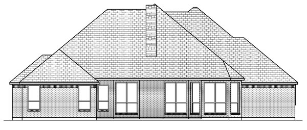 Traditional House Plan 69928 Rear Elevation