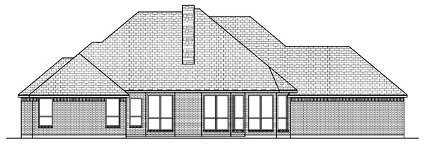 Traditional House Plan 69930 Rear Elevation
