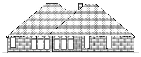 Traditional House Plan 69931 Rear Elevation