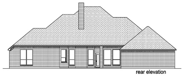 Traditional House Plan 69932 Rear Elevation
