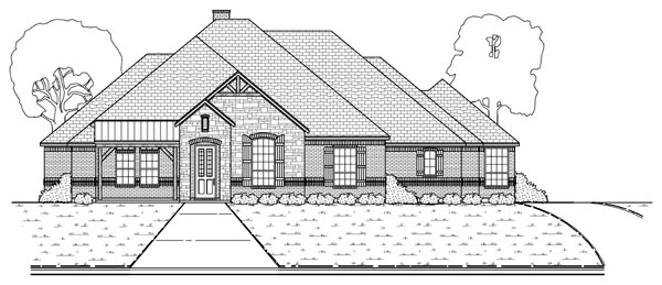 European Traditional Tudor House Plan 69933 Elevation