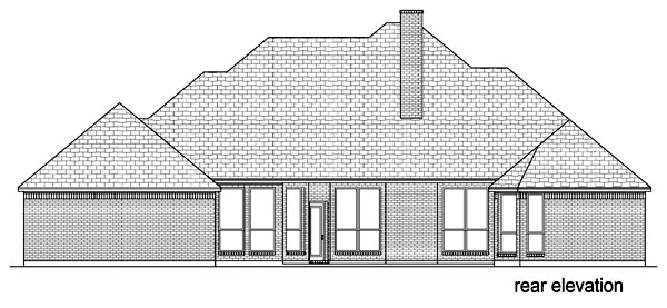 European Traditional Tudor House Plan 69933 Rear Elevation