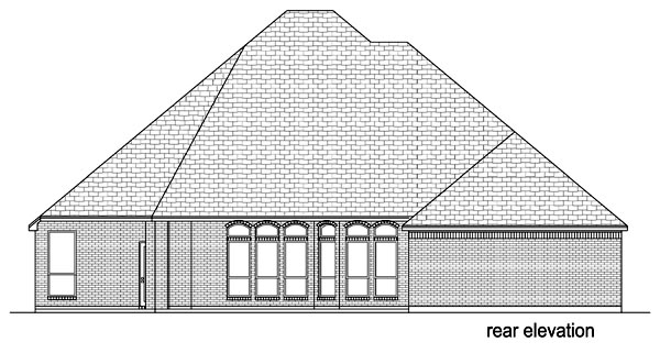 Traditional House Plan 69934 Rear Elevation