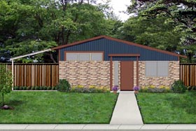 Contemporary House Plan 69939 Elevation