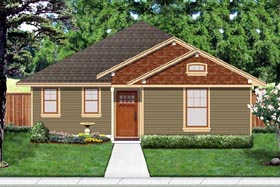 House Plan 69940 | Cottage, Craftsman Style House Plan with 1222 Sq Ft, 3 Bed, 2 Bath Elevation