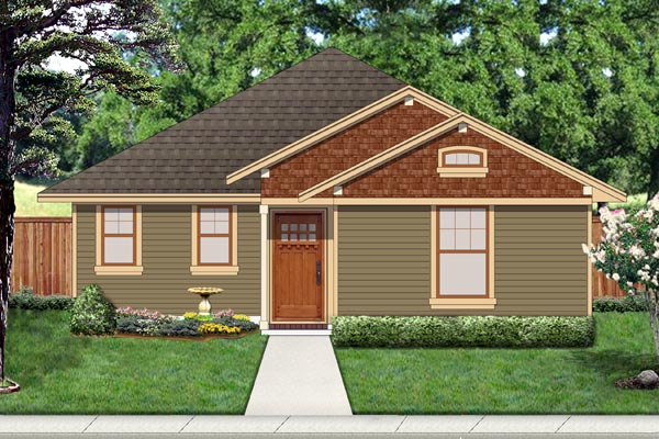 Cottage Craftsman House Plan 69940 Elevation