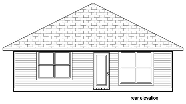 Cottage Craftsman House Plan 69940 Rear Elevation