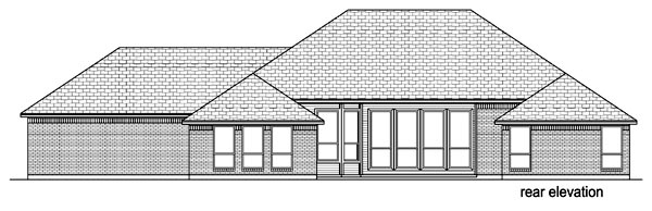 European Traditional House Plan 69949 Rear Elevation