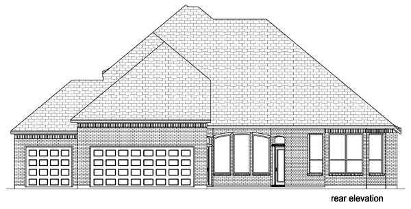 Traditional House Plan 69951 Rear Elevation