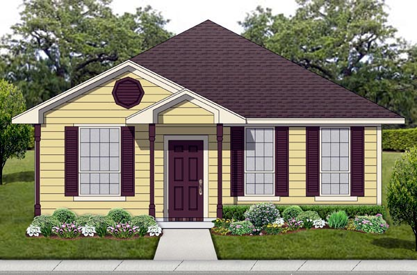 House Plan 69957 | Cottage, Traditional Style House Plan with 1196 Sq Ft, 3 Bed, 2 Bath Elevation