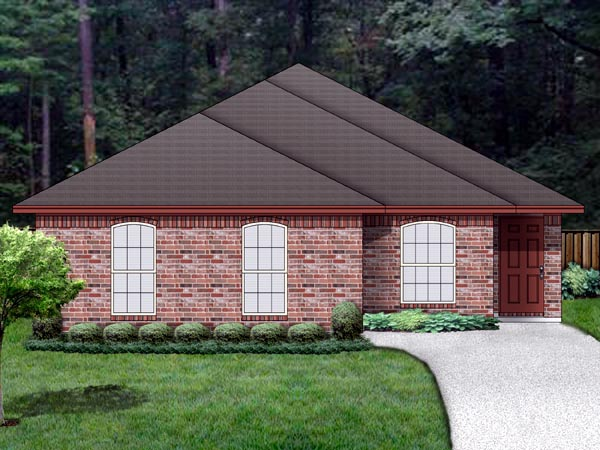 Traditional House Plan 69958 Elevation