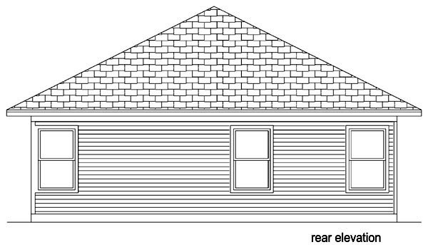 Cottage Traditional House Plan 69959 Rear Elevation