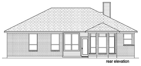 Traditional House Plan 69960 Rear Elevation