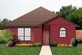 Cottage , Traditional House Plan 69961 with 4 Beds, 2 Baths Elevation
