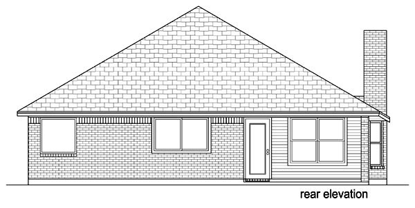 Traditional House Plan 69963 Rear Elevation