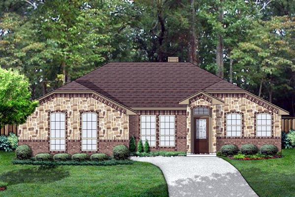 Traditional House Plan 69964 with 3 Beds, 2 Baths, 2 Car Garage Elevation