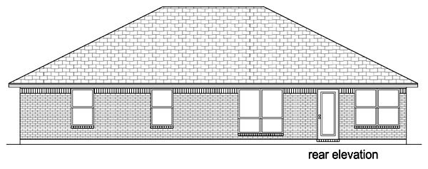 Traditional House Plan 69966 Rear Elevation