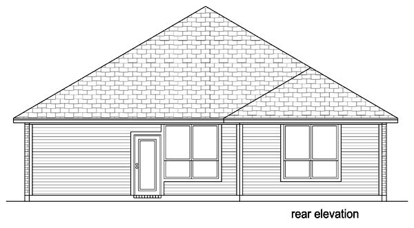 Traditional House Plan 69969 Rear Elevation