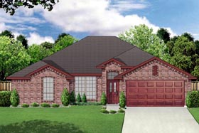 Traditional House Plan 69971 with 4 Beds, 2 Baths, 2 Car Garage Elevation