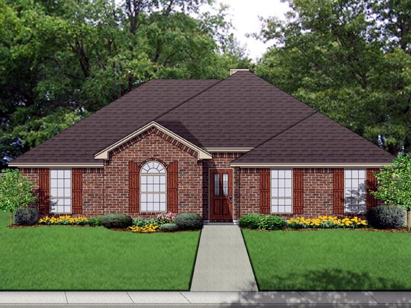Traditional House Plan 69972 Elevation