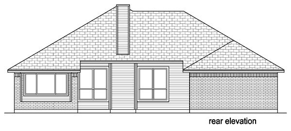 Traditional House Plan 69972 Rear Elevation